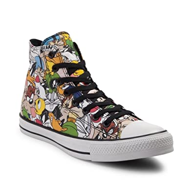 61df0629df0a4 Amazon.com: Converse Looney Tunes Multi. White/Black (12 Youth): Shoes