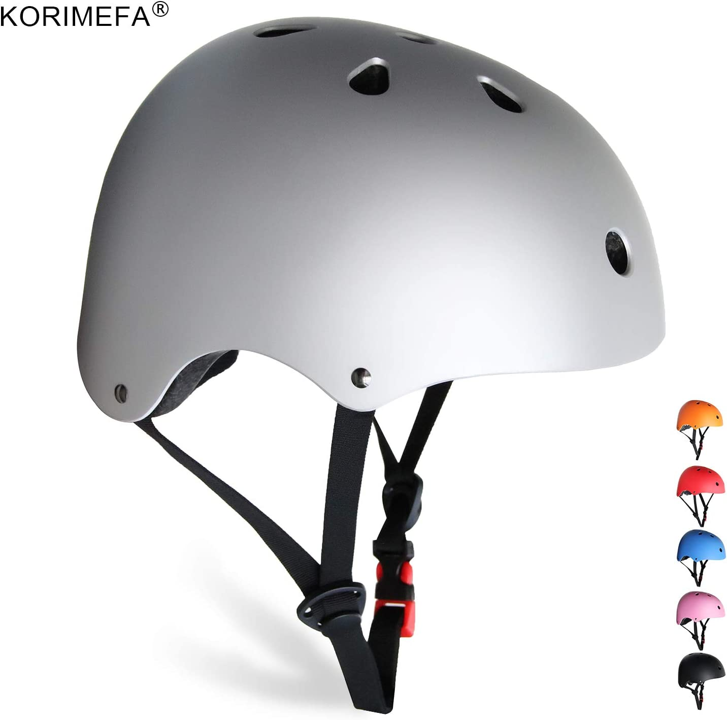 KORIMEFA Kids Bike Helmet Toddler Helmet 3-8 Years Kids Skateboard Helmet Multi-Sport Cycling Helmet CPSC Certified Impact Resistance Ventilation Adjustable Helmets Outdoor Sports