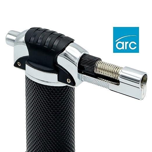 Arc Premier - Soplete profesional resistente al viento, recargable, mechero quemador, soplete para crema catalana: Amazon.es: Hogar