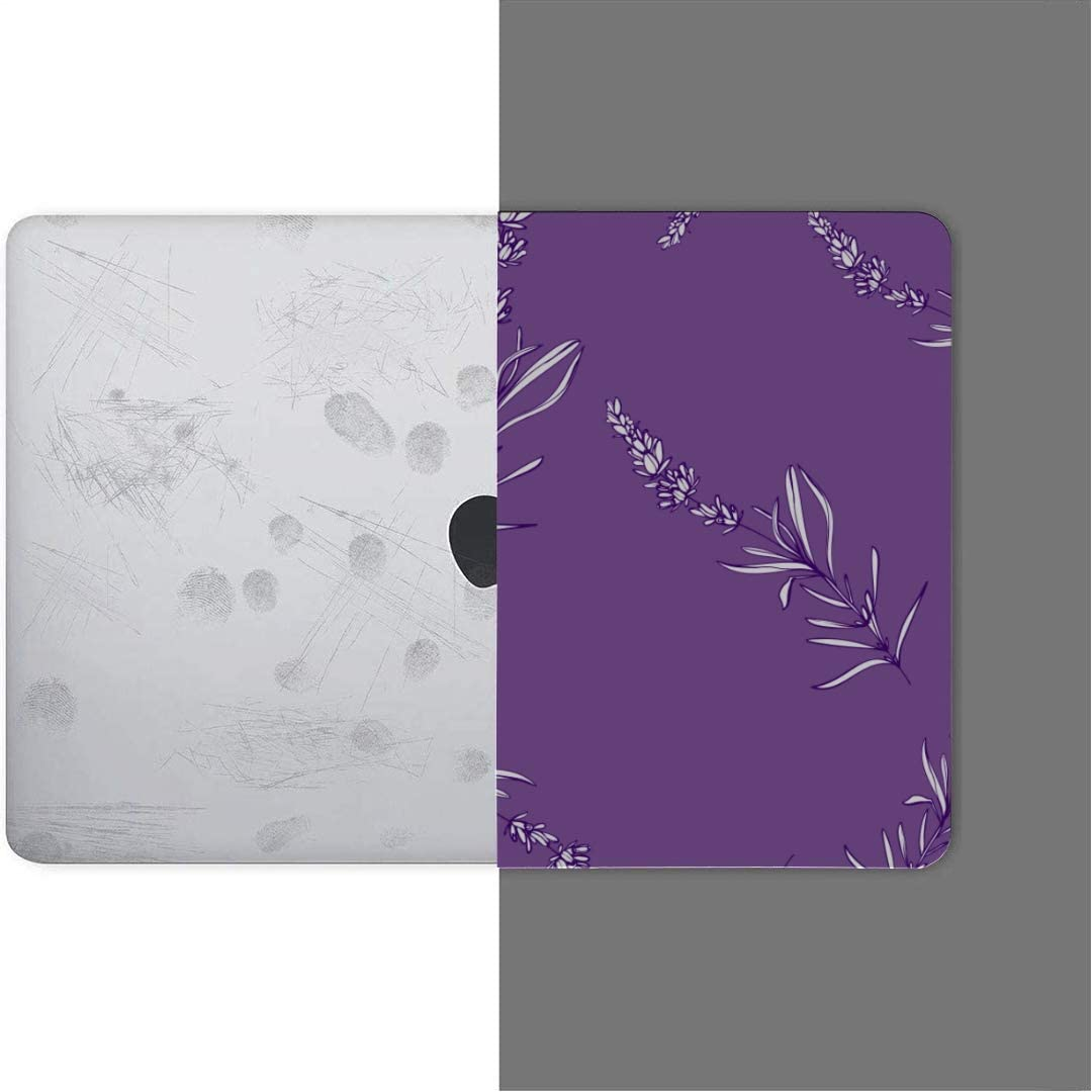 MacBook Pro Case Lavender Outline Floral Pattern Lavender MacBook Retina 12 A1534 Plastic Case Keyboard Cover /& Screen Protector /& Keyboard Cleaning