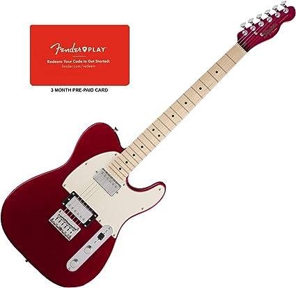 Squier Contemporary Tele - Guitarra HH MPL, color rojo oscuro ...