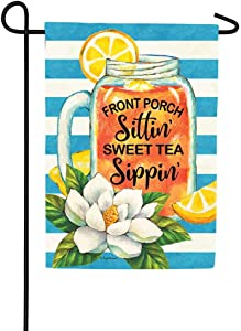 Custom Decor Porch Sweet Tea - Garden Size, 12 x 18 inches, Decorative Double Sided, Licensed and Copyrighted Flag - Printed in The USA Inc.