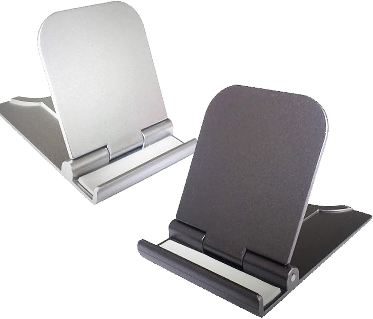 Cell Phone Stand, 2Pack Cellphone Holder for Desk Small Phone Stand for Travel Lightweight Portable Foldable Tablet Stands Desktop Dock Cradle for iPhone Android Smartphone Office Supplies