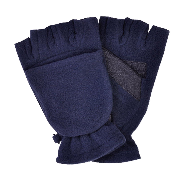 Ergora Unisex Fleecehandschuhe mit Klappe und Magnet 7 Gr. 3-9 Damen Herren Kinder 5 Farben