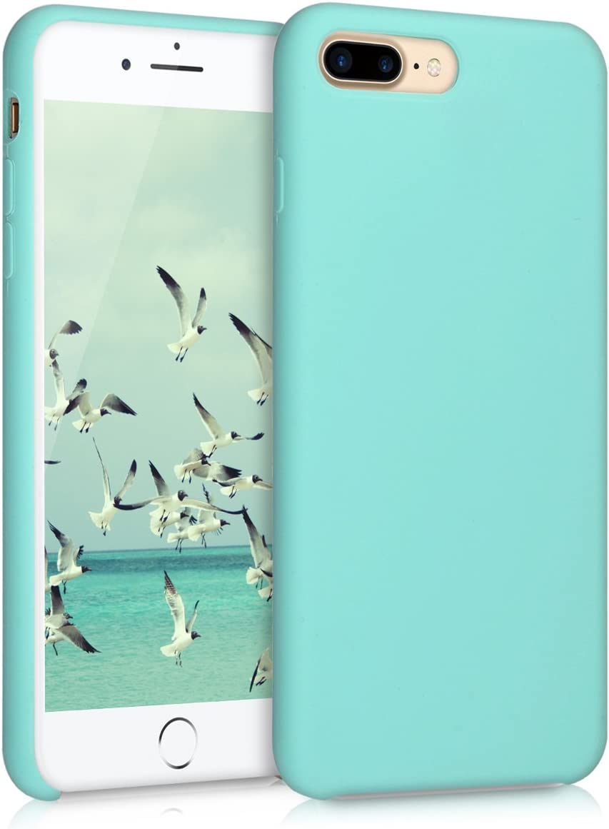 kwmobile TPU Silicone Case Compatible with Apple iPhone 7 Plus / 8 Plus - Case Slim Protective Phone Cover with Soft Finish - Mint