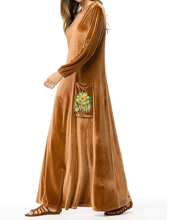 Qianliniuinc Femmina Abaya Islamico Maxi Dress-Inverno Musulmano Abiti  Gonna Lunga Abiti da Sera Eleganti Kaftano Donna  Amazon.it  Abbigliamento a4e14bcaef3