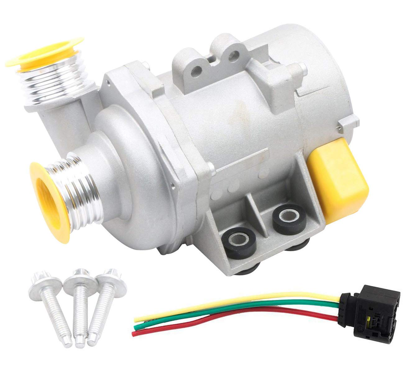 KARPAL Electric Engine Water Pump and Wire Harness and Bolt 11517586925 Compatible With BMW E90 E91 X3 X5 Z4 328i 525i 528i 530xi