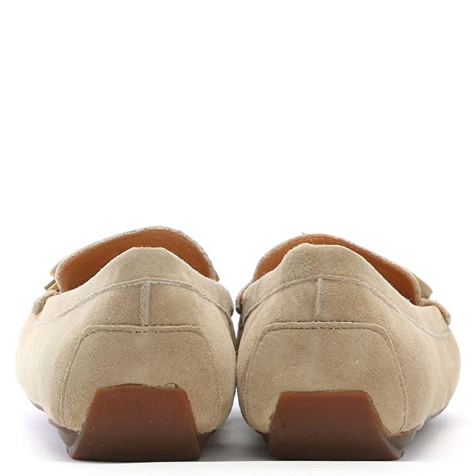 d8547a29108 DF By Daniel Clarendon Taupe Suede Embellished Flat Loafers  Amazon.co.uk   Shoes   Bags
