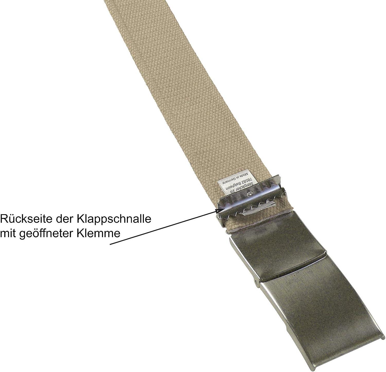 Harrys-Collection Damen Herren Stoff G/ürtel 40 mm Breite starkes Band 12 Farben