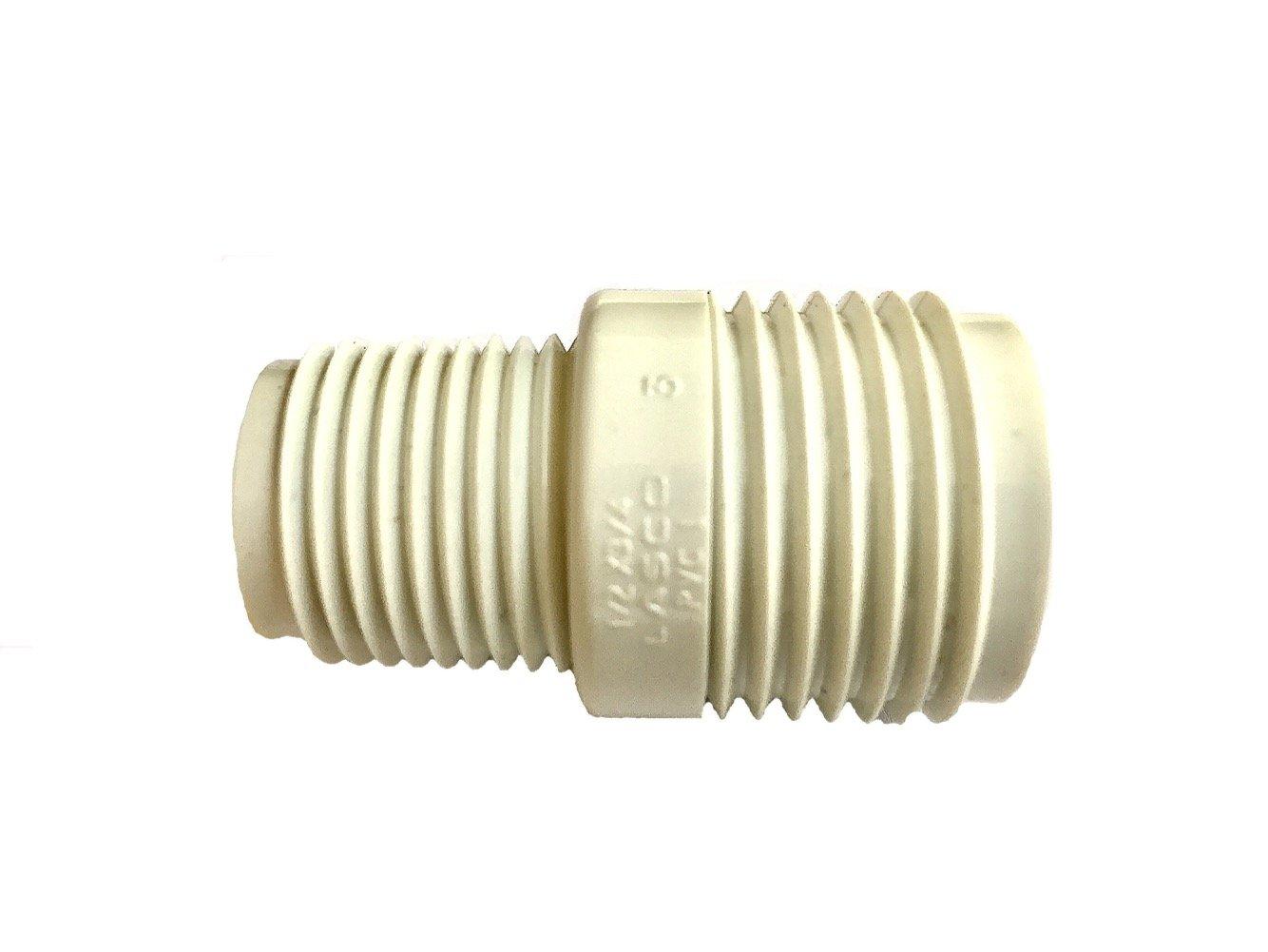 "PVC Garden Hose Adapter (Male 1/2"" NPTx 3/4"" GHT) for Rain Barrels, Garden Spigot, Water Tanks, Ponds, Aquariums"