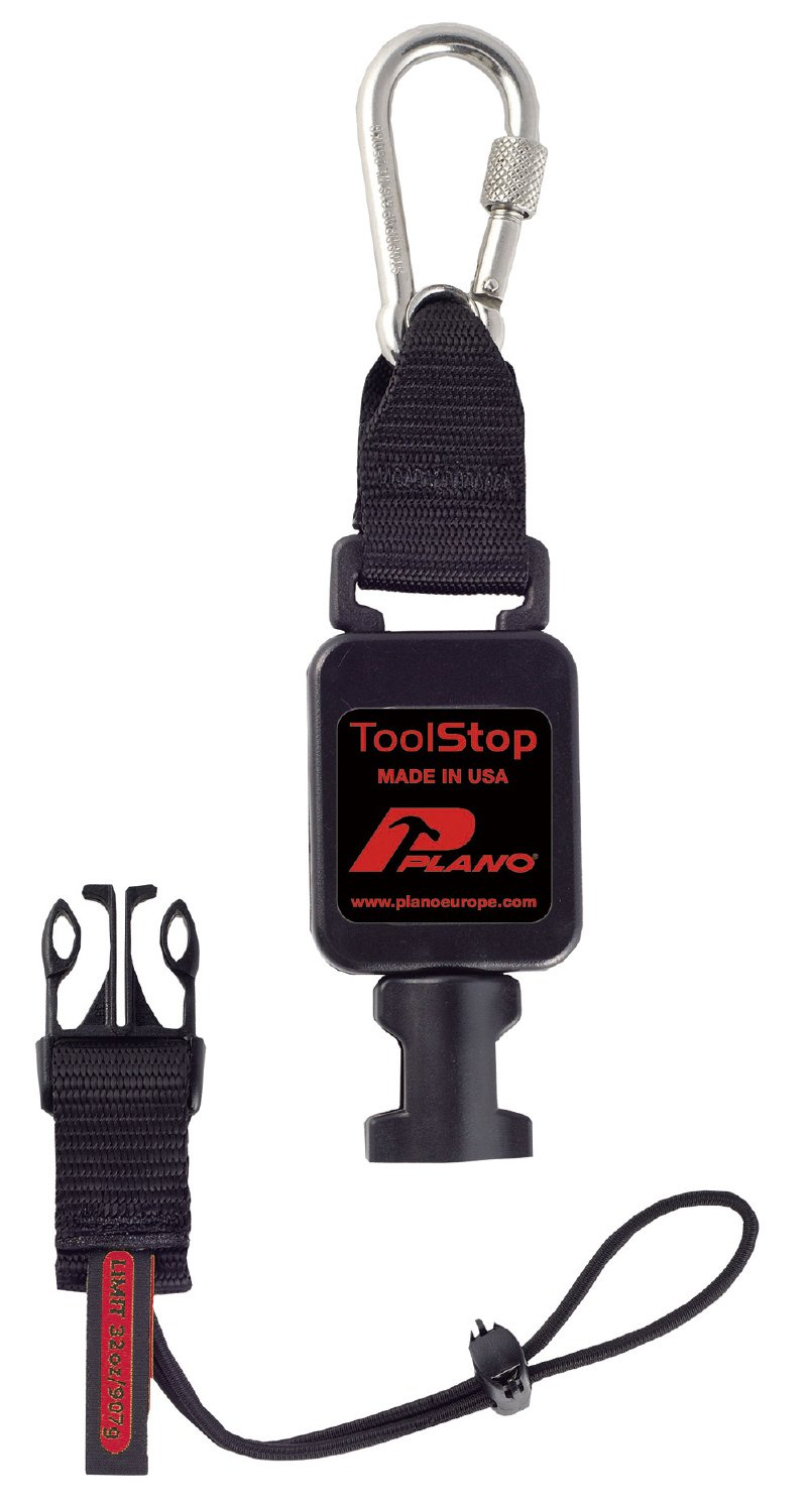 Plano 06101NR TS610TB Retractable Tool Lanyard for Light Tools - Black