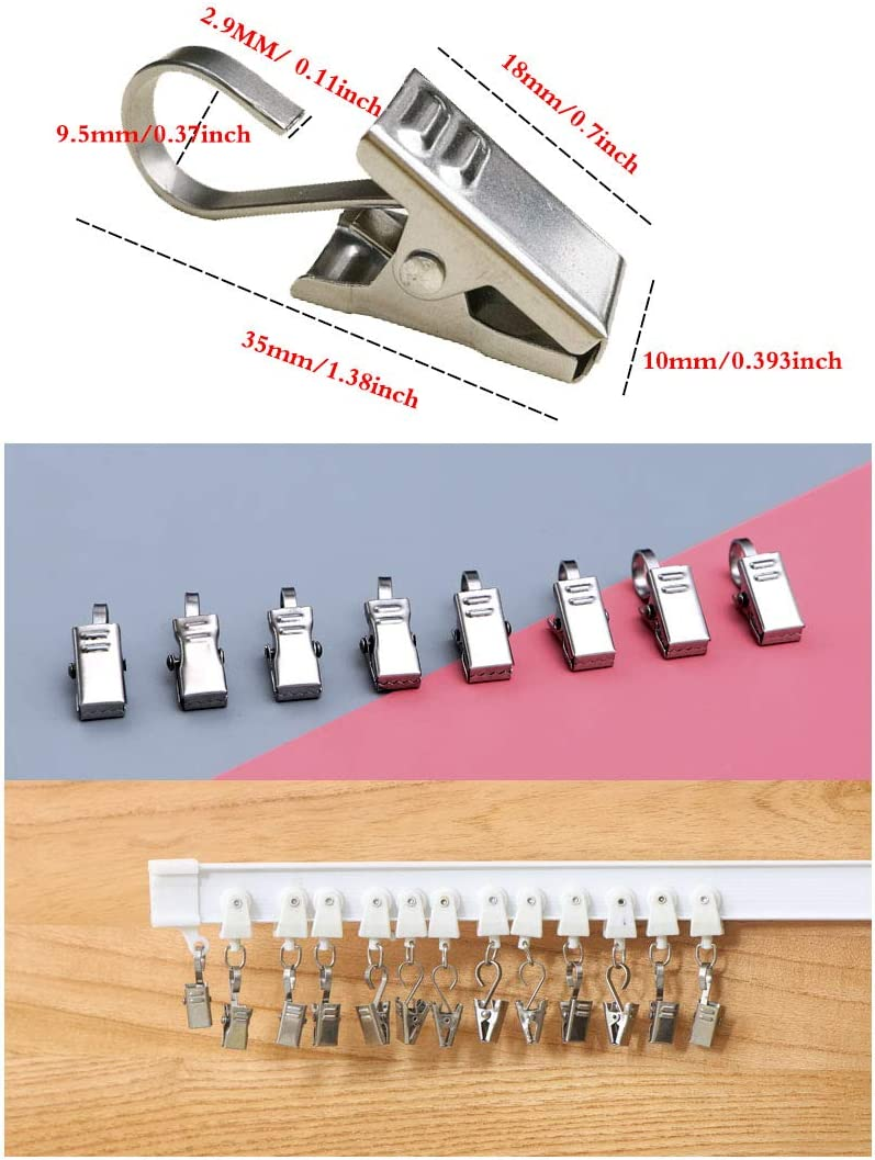 Photos,Outdoor Activities Supplies GuangTouL 25 Pack Party Light Hanger Clip Hooks,Stainless Steel Strong Wire Holder for Curtain,Camper Home Decoration,Art Craft Display,Jewelry Awning Light