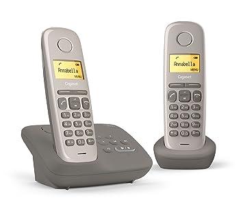 3496dd9f958a88 Gigaset AL170A Duo Téléphone fixe sans fil DECT GAP Répondeur Taupe ...