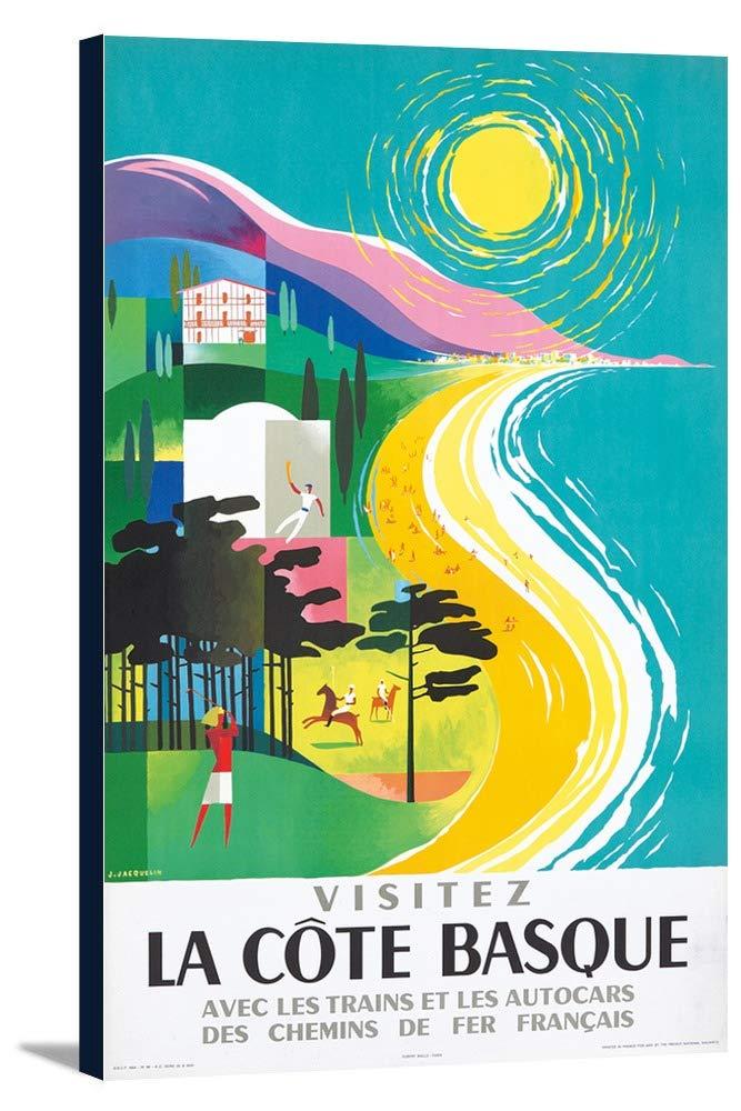 La Coteバスクヴィンテージポスター(アーティスト: Jacquelin )フランスC。1964 11 3/8 x 18 Gallery Canvas LANT-3P-SC-74100-12x18 11 3/8 x 18 Gallery Canvas  B01DZ22X4K