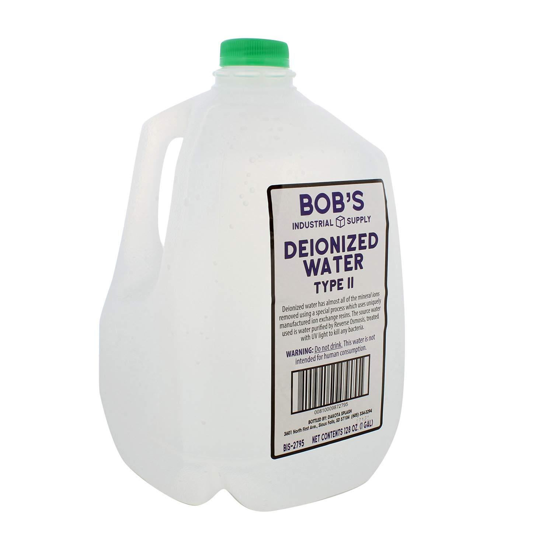 BISupply Deionized Water 1 Gallon Deionized Water Bottle Demineralized Water Deionized Water Type II (2), 1 Gallon Jug