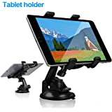Car Tablet iPad Holder Mount, Suction Cup Tablet Holder Stand for Car Windshield Dash Desk Kitchen Wall Compatible with…