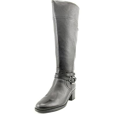Marc Fisher Kacee Wide Calf Women US 5 Black Knee High Boot