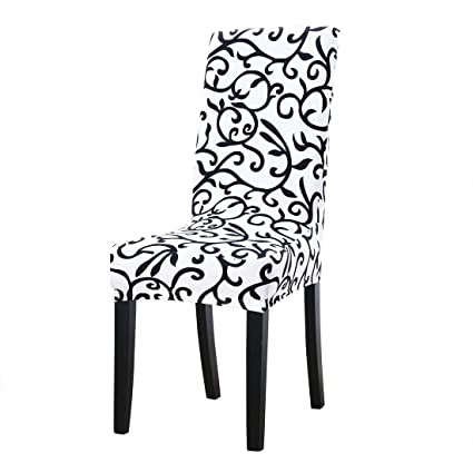 Uxcell Dining Chair CoverStretch Bar Stool Slipcover Kitchen Pattern Protector Spandex Short