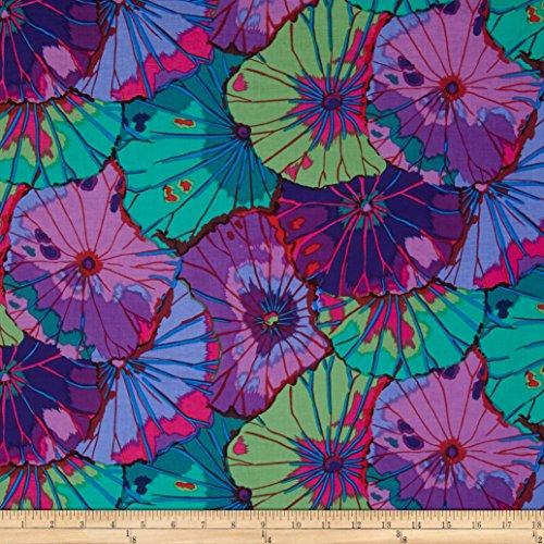 FreeSpirit Fabrics Kaffe Fassett Lotus Leaf Purple Fabric by The Yard (Lotus Fabric)