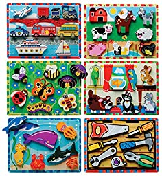 Melissa and Doug Early Childhood Chunky Puzzles, 9\