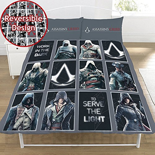 Assassin's Creed Legacy 2 Piece UK Double /US Full Sheet Set, 1 x Double Sided Sheet and 2 x Pillowcases