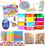 Slime Kit - Slime Supplies Make Your Own Slime, Slime Making Kit for Kids, Includes Crystal Slime, Glitter Sheet Jars, Unicorn Slime Charms, Foam Balls, Fruit Slices, Fishbowl Beads (slime kit 02)