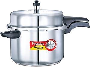 Prestige Deluxe Alpha Induction Base Pressure Cooker, 8-Liter, Stainless Steel