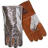 Steiner 02122-L Welding Gloves, Aluminized Back Split Cowhide Palm Wool Lined, Large