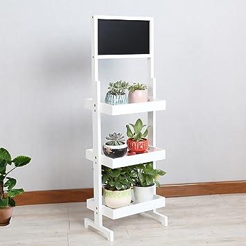 Jiaz Muebles/Estante/Estante de almacenamiento Hj Flower Rack Estante de pizarra pequeña, estante de bambú plegable vertical, estante de escalera exterior/interior,Blanco,32 × 23.5 × 105cm: Amazon.es: Bricolaje y herramientas