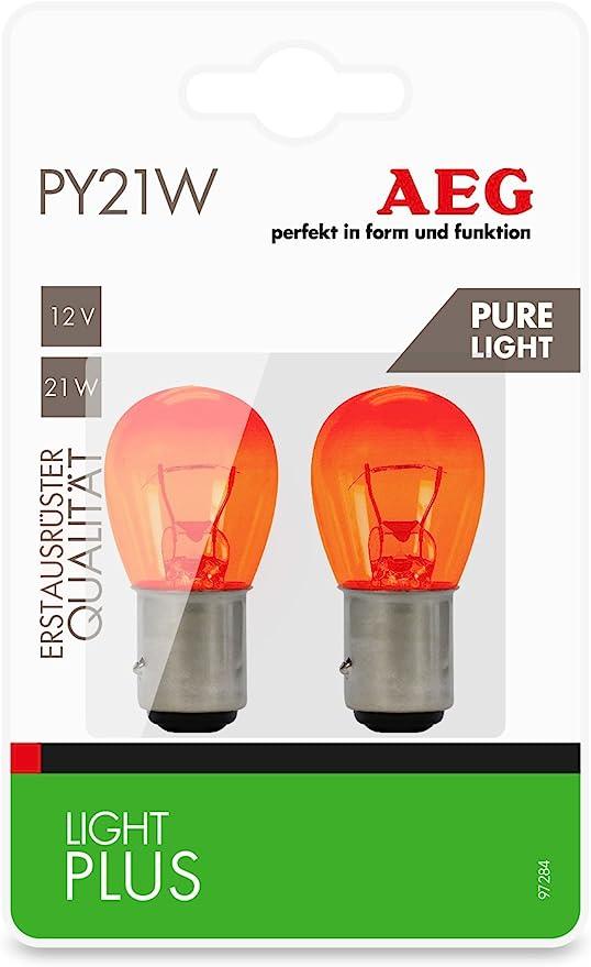 Aeg Automotive 97284 Glühlampe Light Plus Pure Light Py21w 12 V 2er Set Auto
