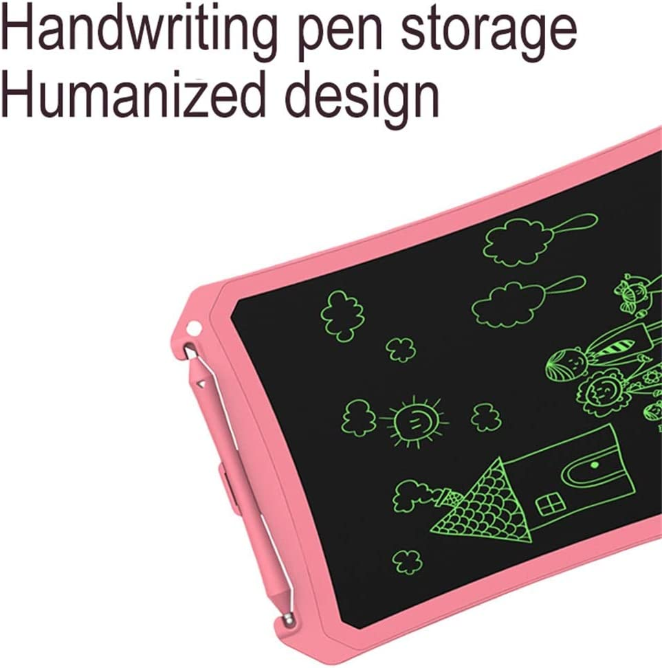 LCD Writing Board//Childrens Drawing Graffiti Board//Message Board//Electronic Note Board//with Lock Screen Magnet//Suitable for Home School Pink - 8.5 Inch Office