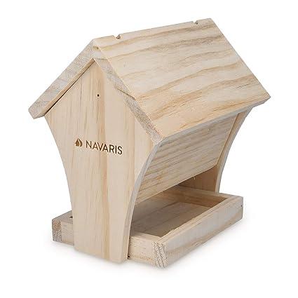 Navaris Diy Wooden Bird House 17 X 13 X 17 5cm Build