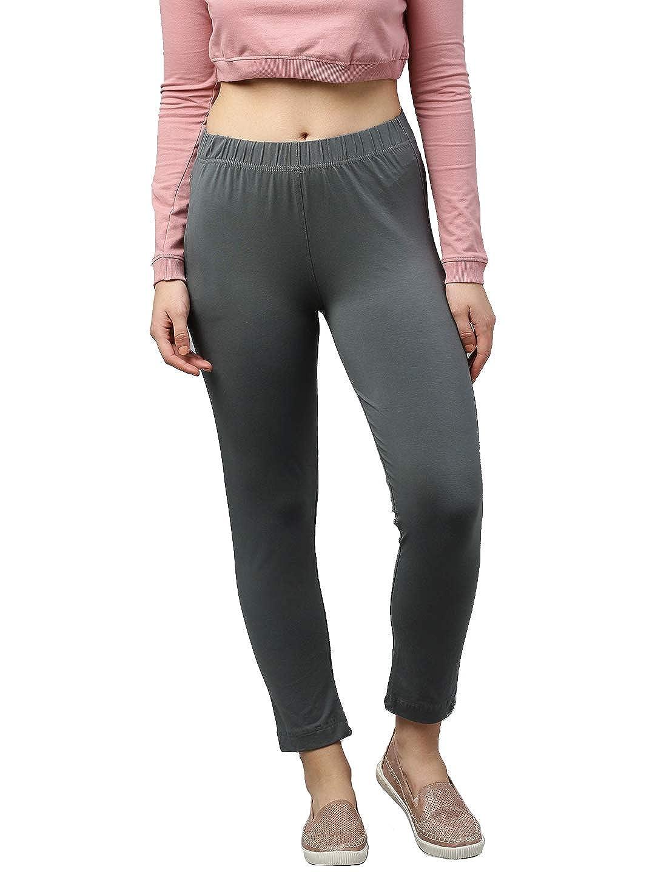 Lux Lyra Women's Straight Pant Slim (LYRA_KURTIPANT_1PC_Steel Grey_Free Size)