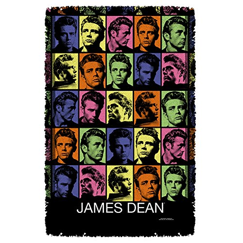 James Dean Color Block Sublimation Woven Throw