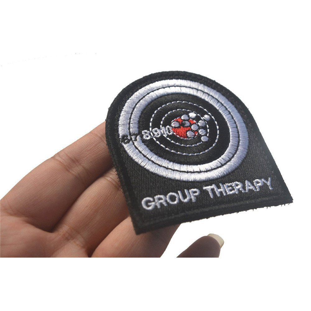 KingNew GROUP THERAPY Target Shooting Military Tactical Embroider Hook Loop Morale Patch