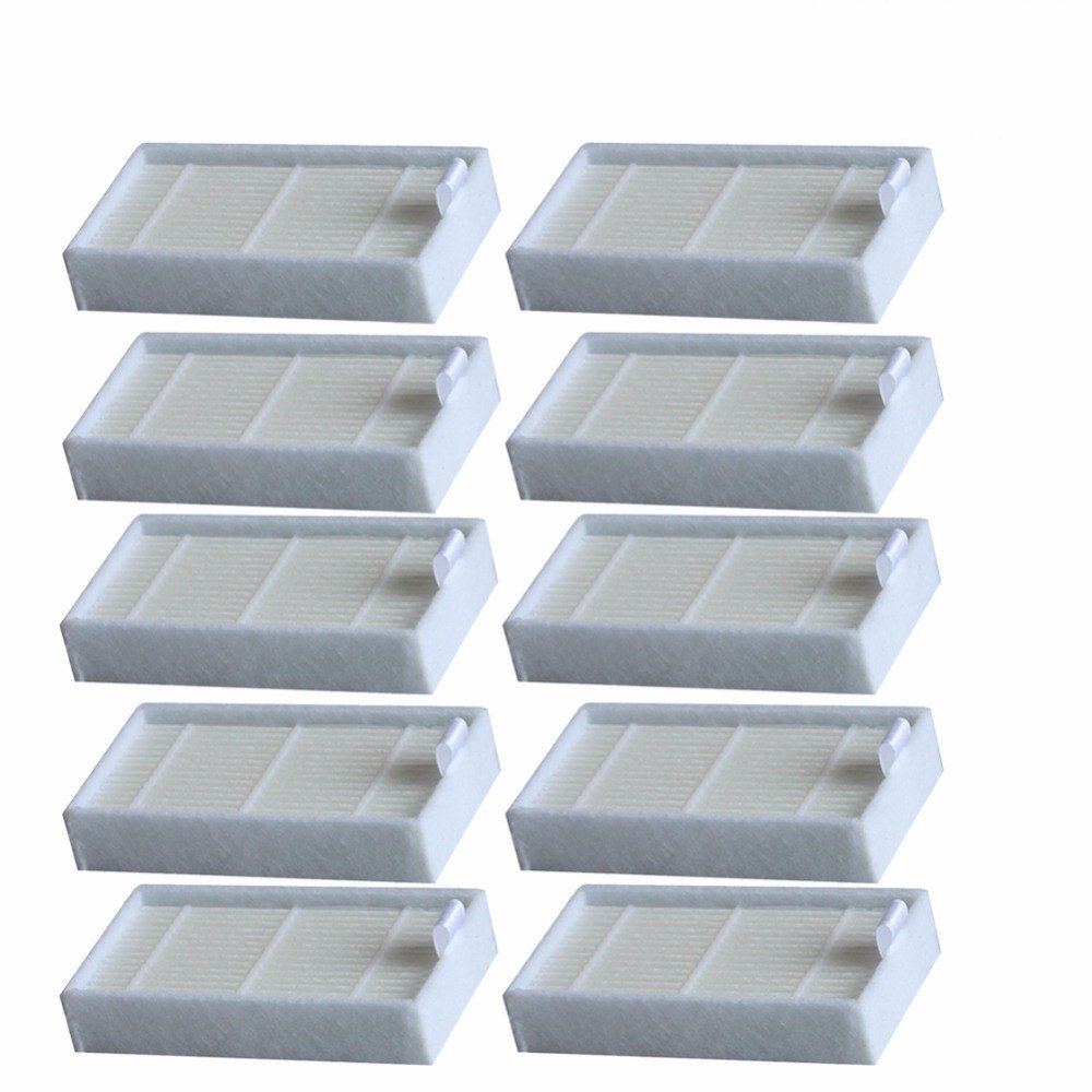 Electropan 10pcs HEPA Filter Replacement for Ilife V3s V3s pro V5 V5s V5s Pro Robotic Vacuum Cleaner