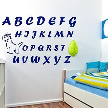 ABC Wandtattoo Alphabet Größe 58cm Breite x 45cm Höhe Kinderzimmer ...
