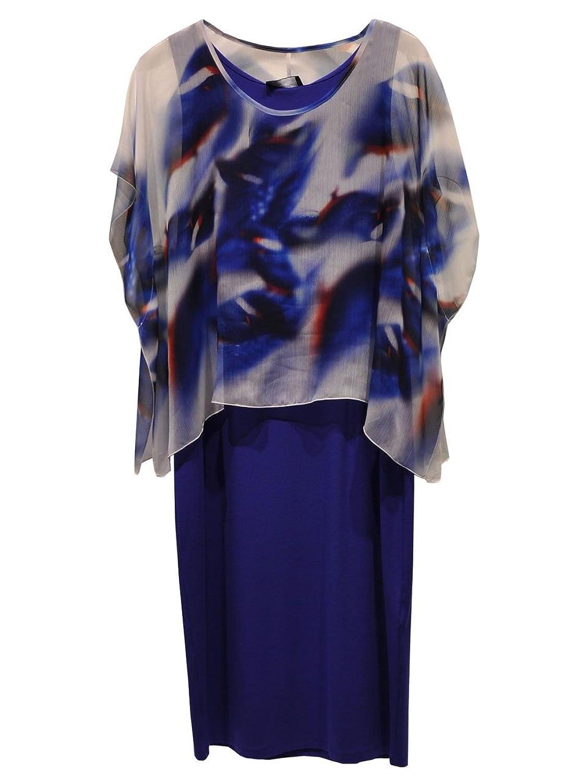 DORIS STREICH Damen Jerseykleid mit Überwurf