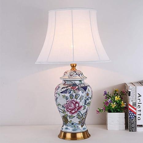 XULIWEI Hermosa y Gran lámpara de Mesa de cerámica Oriental ...