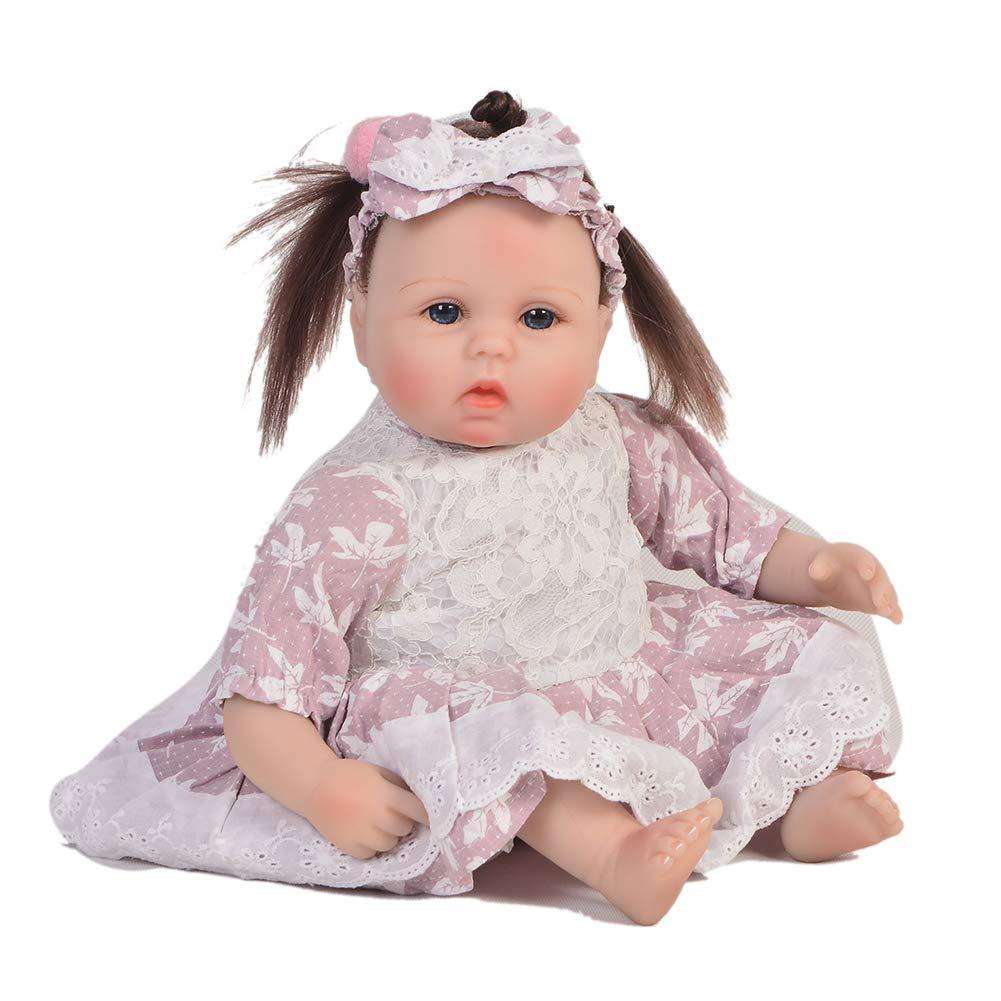 mejor calidad mejor precio D DMZH 17 Pulgadas simulación recién Nacido renacer muñecas de de de Silicona Cabeza y extremidades de Tela Cuerpo para niños Juguetes Mejor cumpleaños  costo real