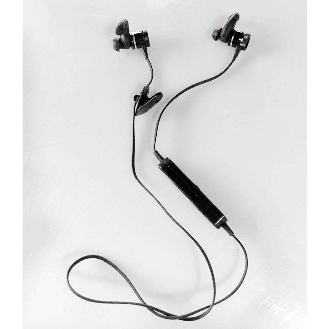 SoleZa Bluetooth Earbuds Wireless Headsets Lightweight Tie Type Stereo Sport Earphone Black##1 by SoleZa