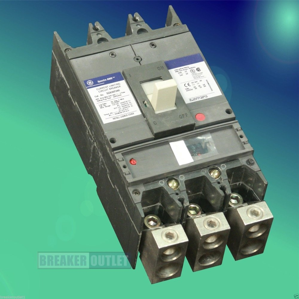 Refurbished General Electric Ge Sgda36at0400 Circuit Breaker 3 Pole Industrial Thql1120afp2 Arc Fault At 400a 600v Spectra