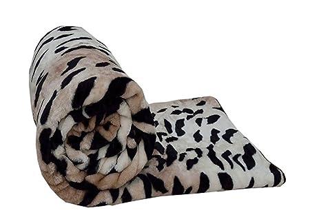 Animal Print Super Soft Blanket Throw 150cm x 200cm Leopard Tiger or Zebra
