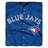 The Northwest Company MLB Toronto Blue Jays Royal Plus Raschel Throw, One Size, Multicolor