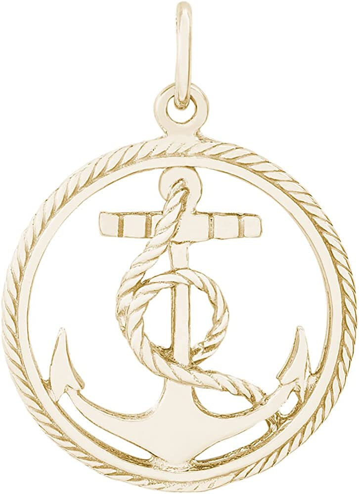 18 or 20 inch Rope Rembrandt Charms Sterling Silver 3D Life Preserver Charm on a 16 Box or Curb Chain Necklace