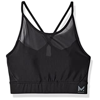 Mission Women's VaporActive Sensory Cross Back Medium Impact Sports Bra