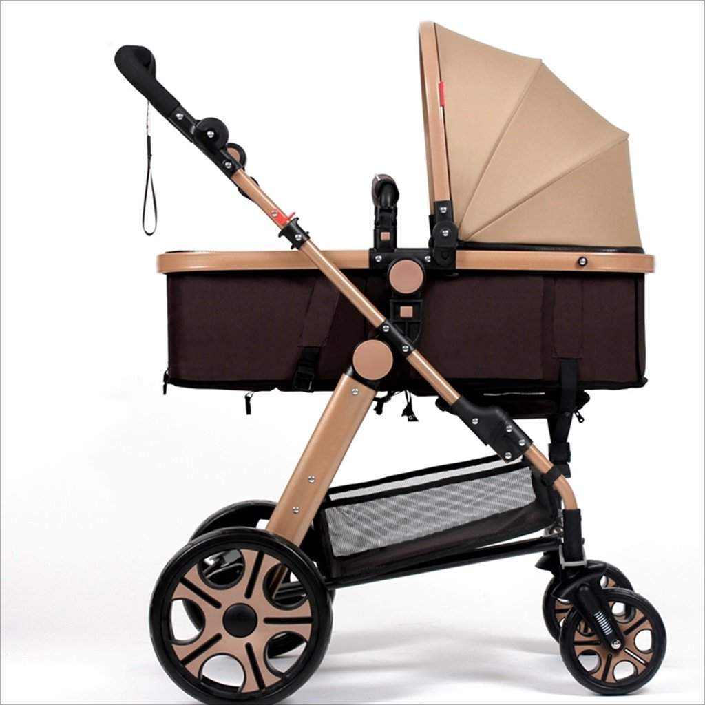 新生児の赤ちゃんキャリッジ折りたたみ可能な座って、1ヶ月のためのダンピングの赤ちゃんカートに落ちることができます 3歳の赤ちゃんの双方向四輪ベビートロリーを振るのを避ける (色 : A) B07DVGL3L8 A A