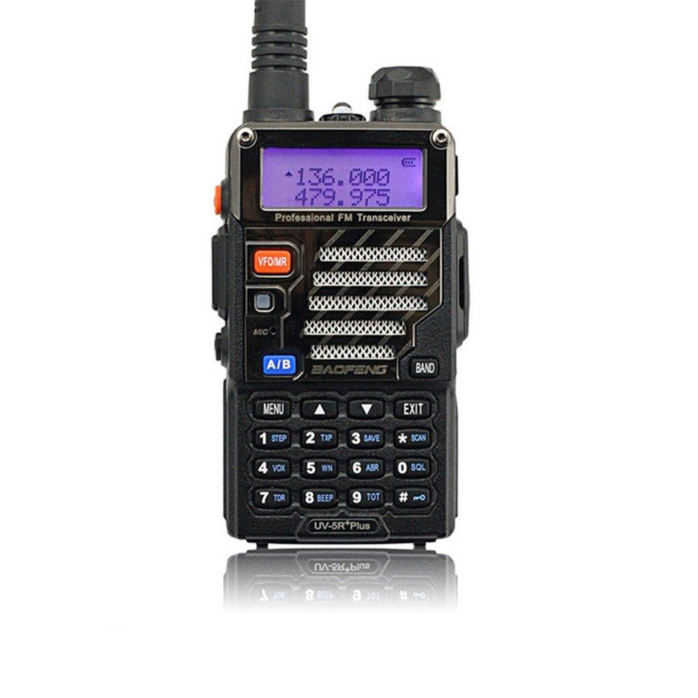 Baofeng UV-5R+ Plus 136-174/400-480 MHz Long Range U/VHF Dual Band Ham Two Way Radio Black