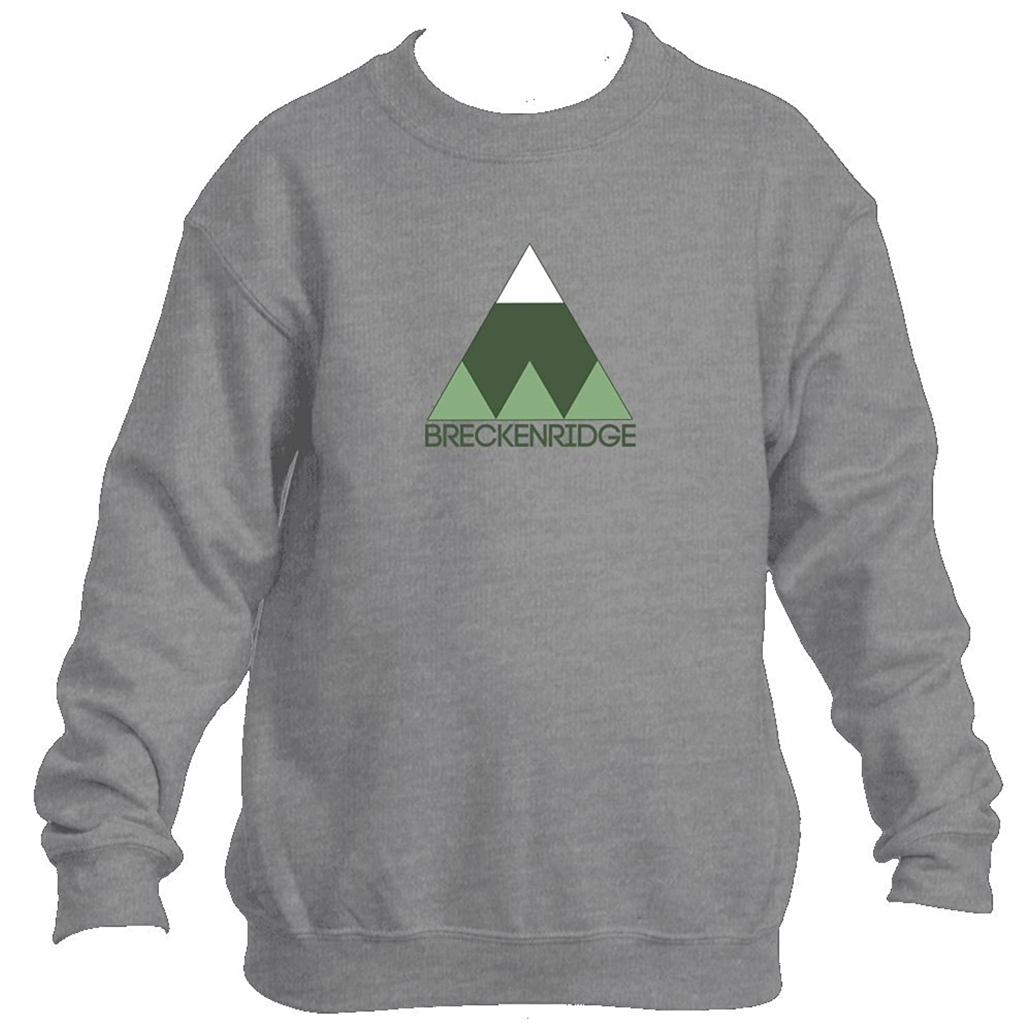 Hot Breckenridge Minimal Mountain - Colorado Youth Fleece Crew Sweatshirt - Unisex supplier