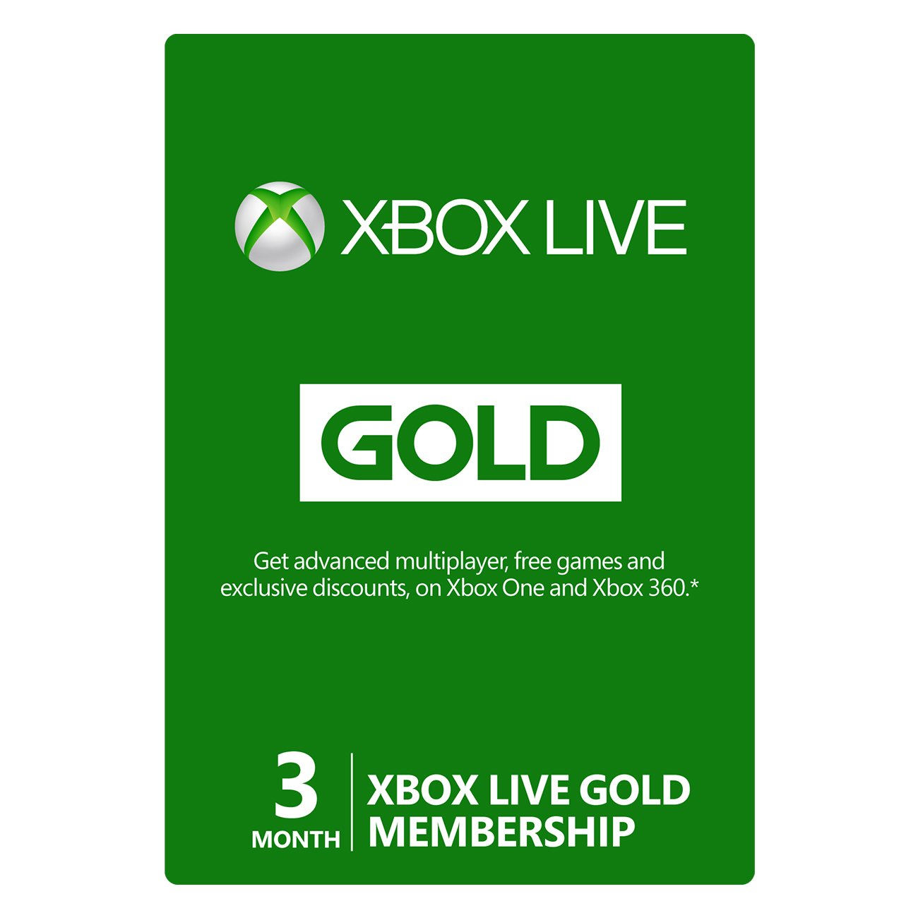 Microsoft Xbox Live 3 Month Gold Card product image